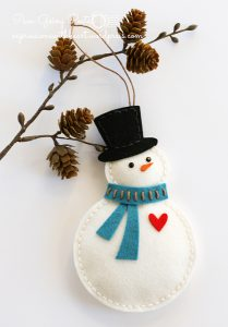 bonhomme de neige feutrine
