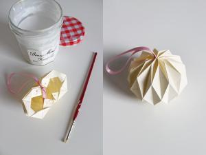boule de noel à faire en papier