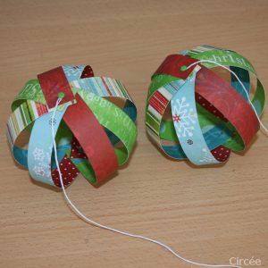 boule de noel en papier diy