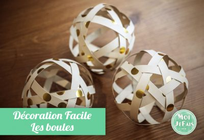 boules en papier décoration