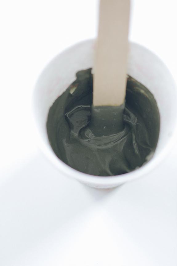 bougeoir ciment mélange