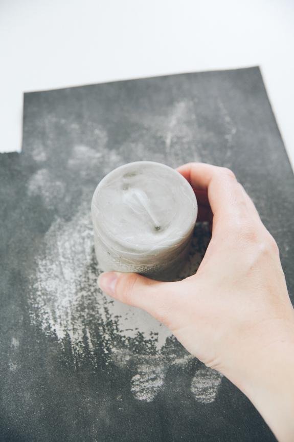 réaliser bougoir ciment