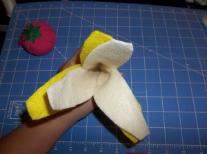 fruit feutrine tuto banane