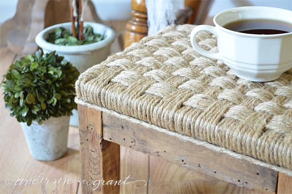 tabouret restauration vieux meubles