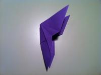 étape papillon origami