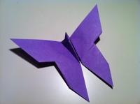 etape par etape papillon origami
