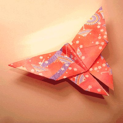 papillon origami papier japonais