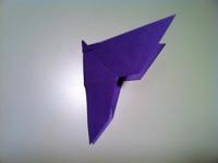un papillon en papier