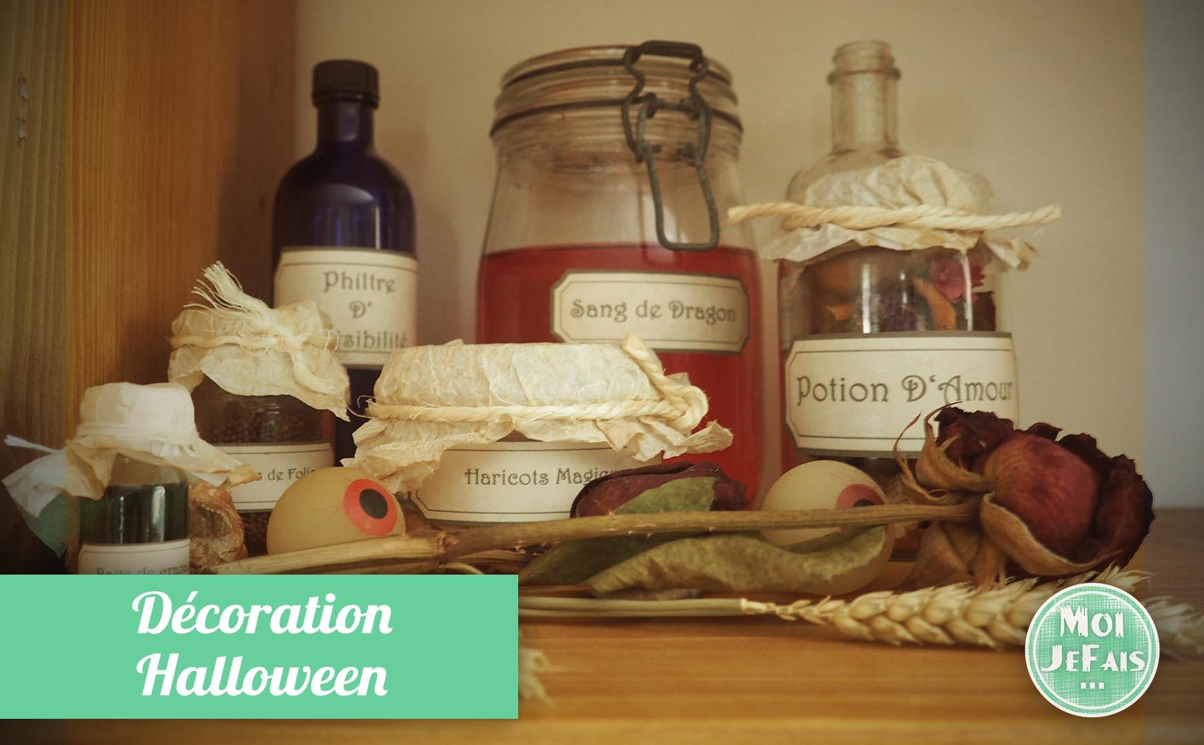 déco halloween potion