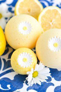 bombe de bain maison au citron