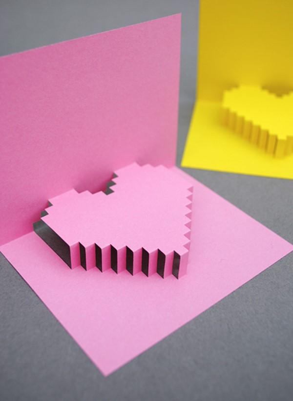 carte st valentin 3D diy