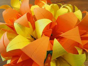 bouquet lys fleur en papier