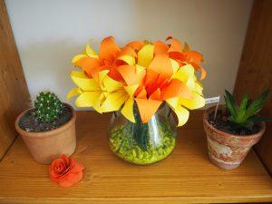 bouquet fleur de lys papier