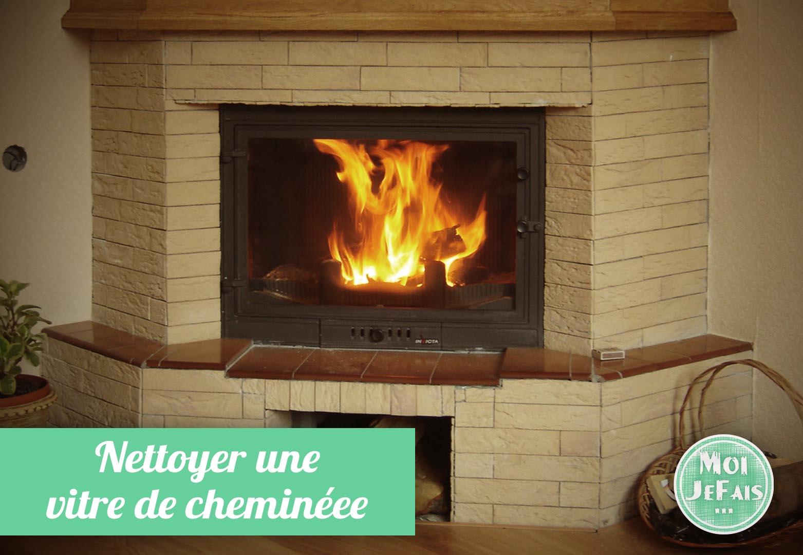 comment nettoyer vitre insert cheminée