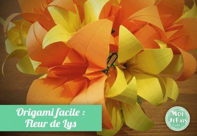 origami facile fleur lys