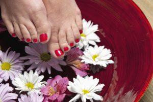 bain de pieds bicarbonate