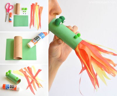 bricolage rouleau de papier toilette dragon