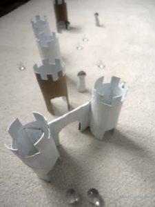 bricolage rouleau de papier toilette - jeu de billes