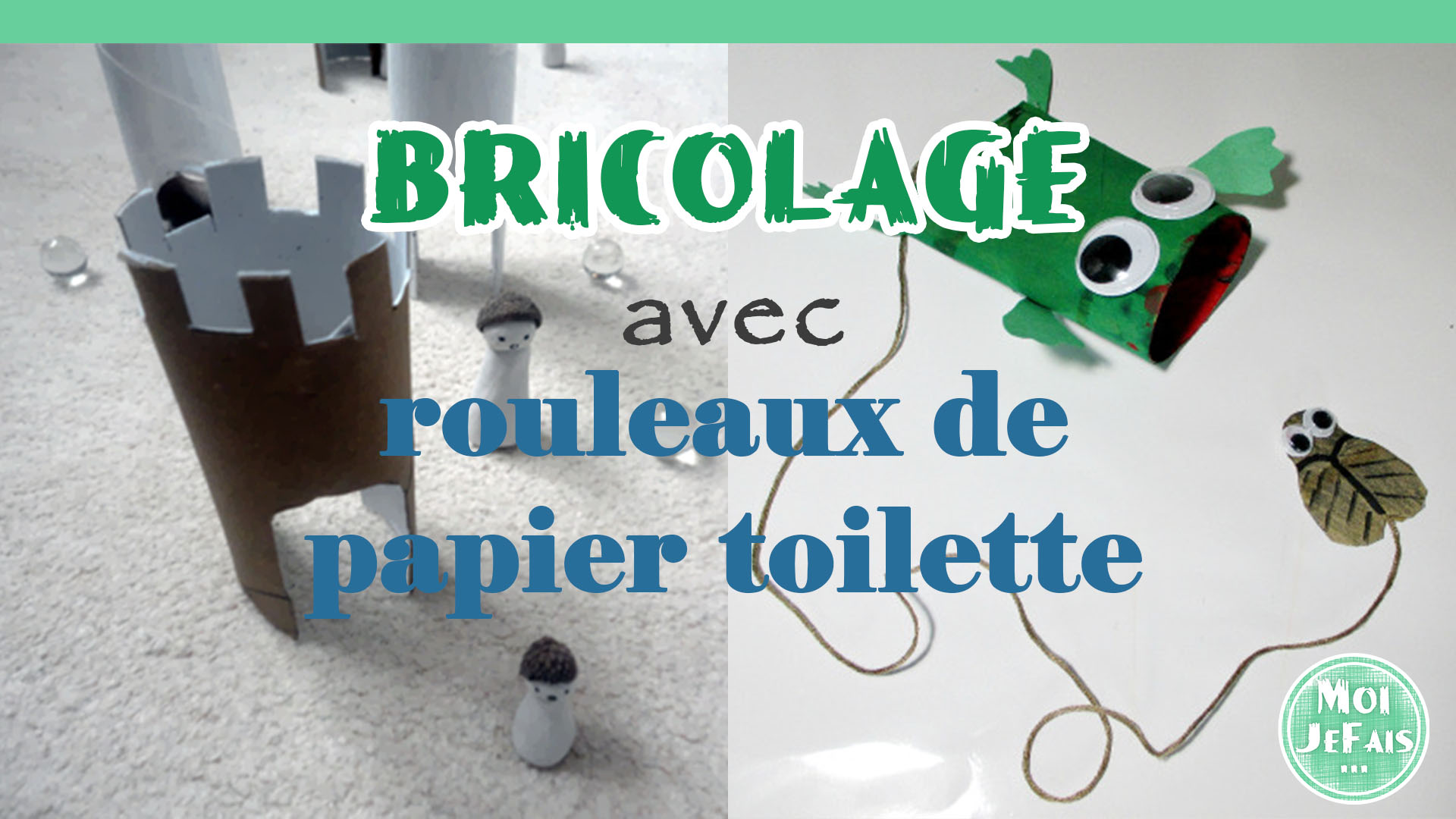 diy 2 bricolages ludiques avec des rouleaux de papier toilette. Black Bedroom Furniture Sets. Home Design Ideas