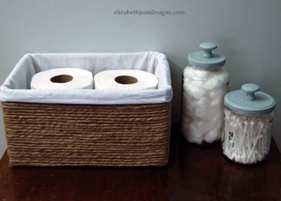 rangement salle de bain diy