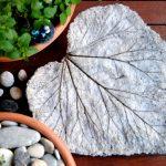 diy deco jardin feuilles beton
