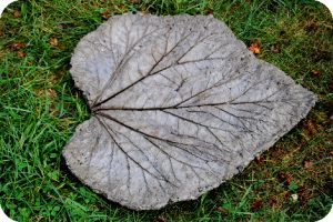 pavé original forme feuille diy