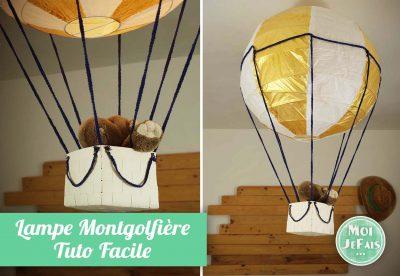 lampe montgolfiere comment faire