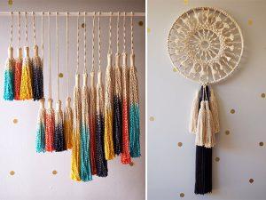 attrape rêve - décoration sur un mur