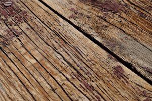 plateau table bois et metal