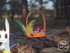 bricolage enfant panier de Pâques 1
