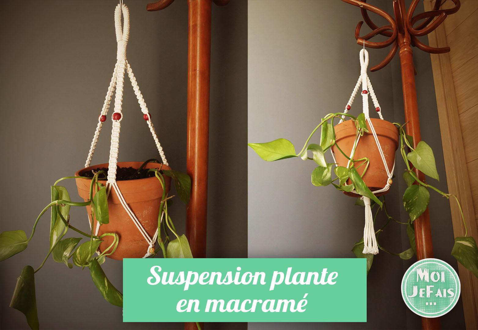faire une suspension pour plante en macramé