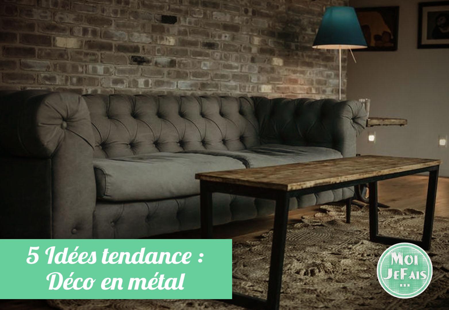 idée décoration en métal