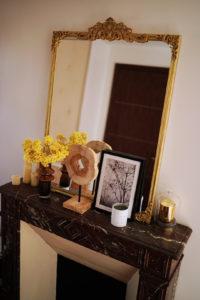 miroir avec moulures