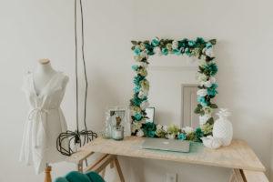 miroir fleurs diy